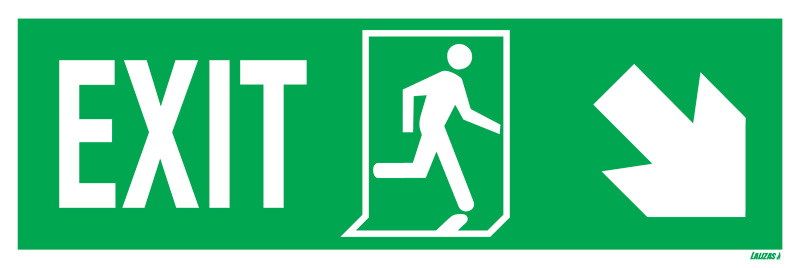 Exit Left-man Run Right-arrow Down/right