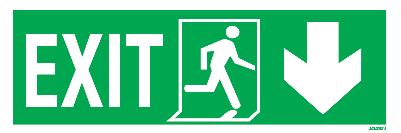 Exit Left-man Run Right-arrow Down