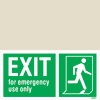 Exit Left-man Run Right-for Em. Use Only-boxes