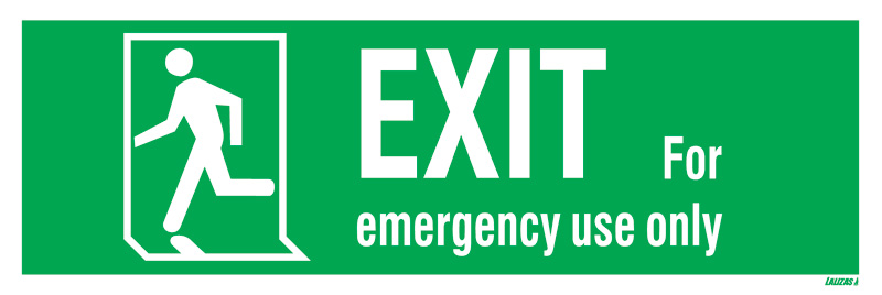 Lalizas Imo Signs Emergency Exit Run Man Left
