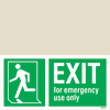 Exit Man Running Left For Em.use Only
