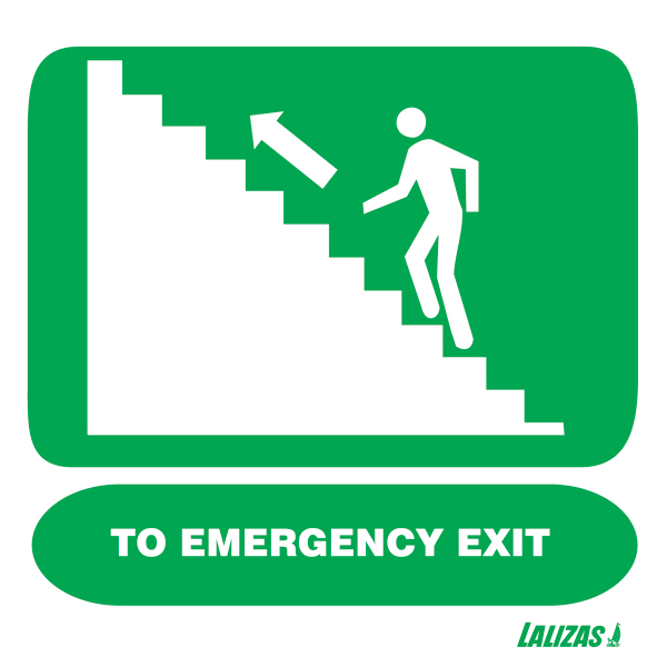 pics for gt emergency exit stairs sign