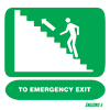 To Emergency Exit Upstairs Left