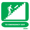 To Emergency Exit Upstairs Right