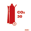 Wheeled Co2 Fire Extinguisher 30 (15x15)