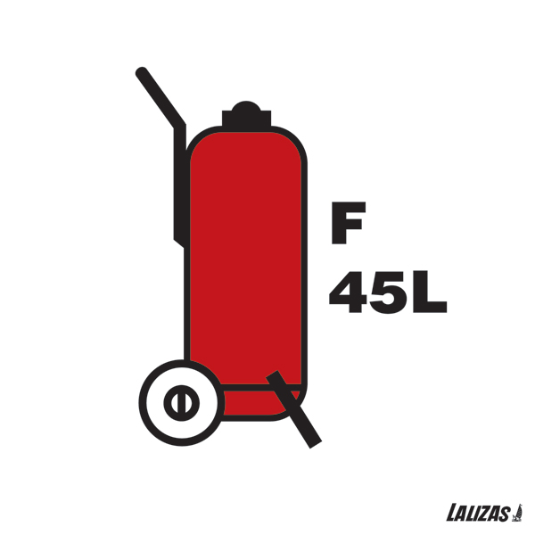 Lalizas Imo Signs 45l Wheeled Foam Fire Extinguisher 15x15