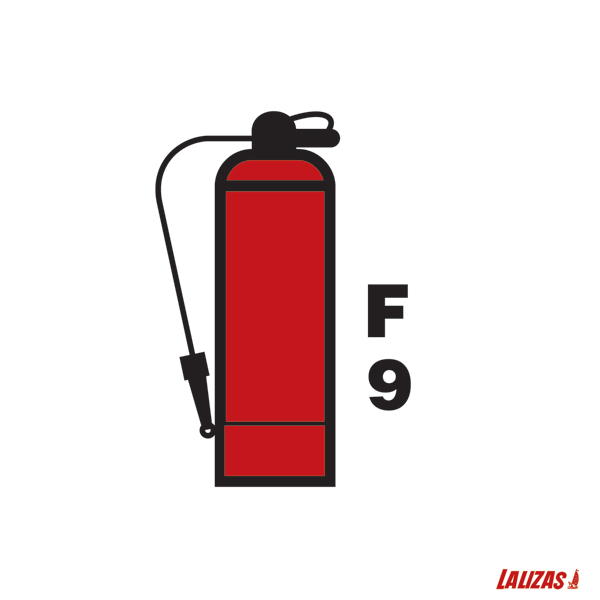 Lalizas Imo Signs 9l Foam Fire Extinguisher 15x15